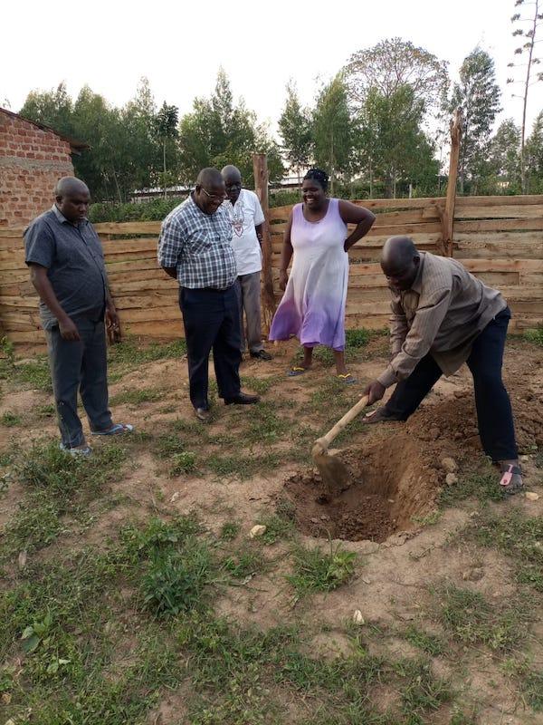 kambiri rainwater catchment tank clearing start