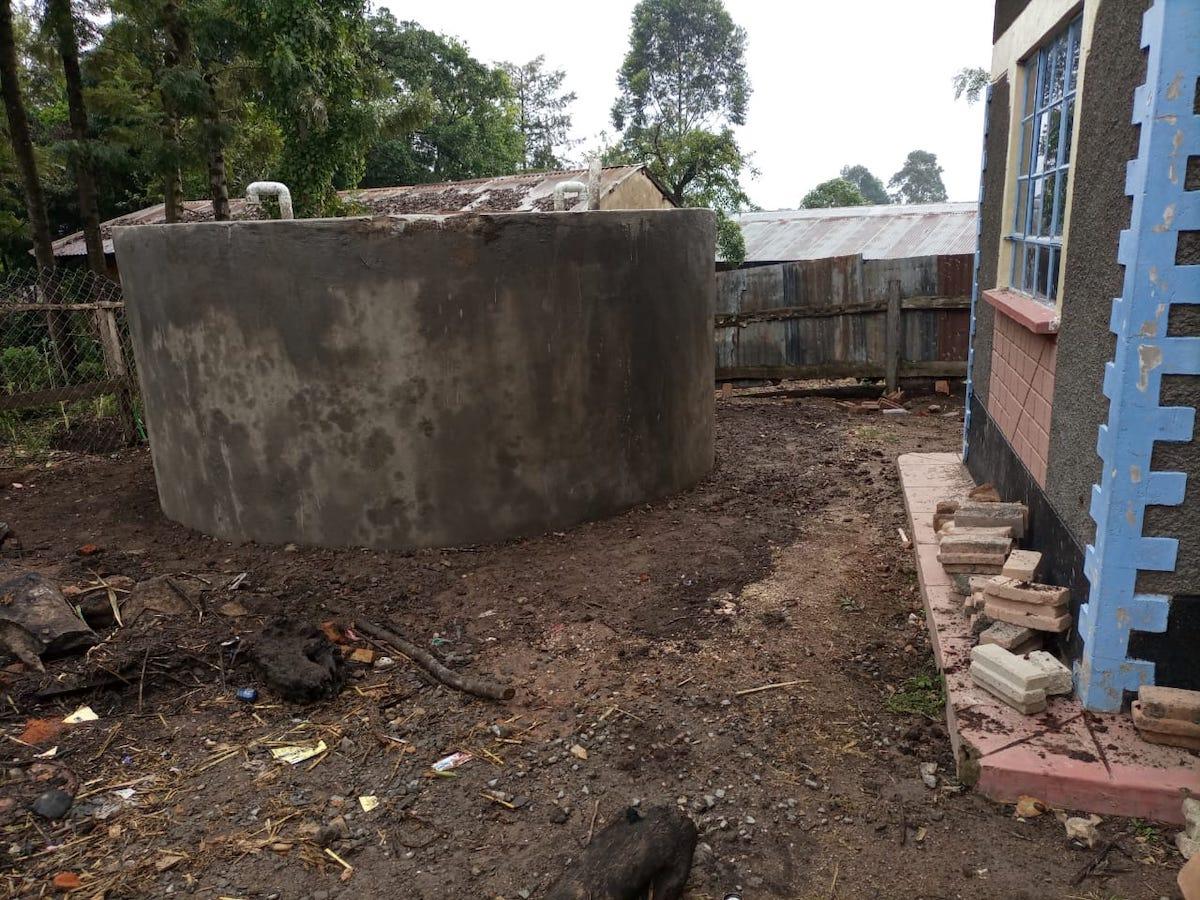 kambiri rainwater catchment tank finished