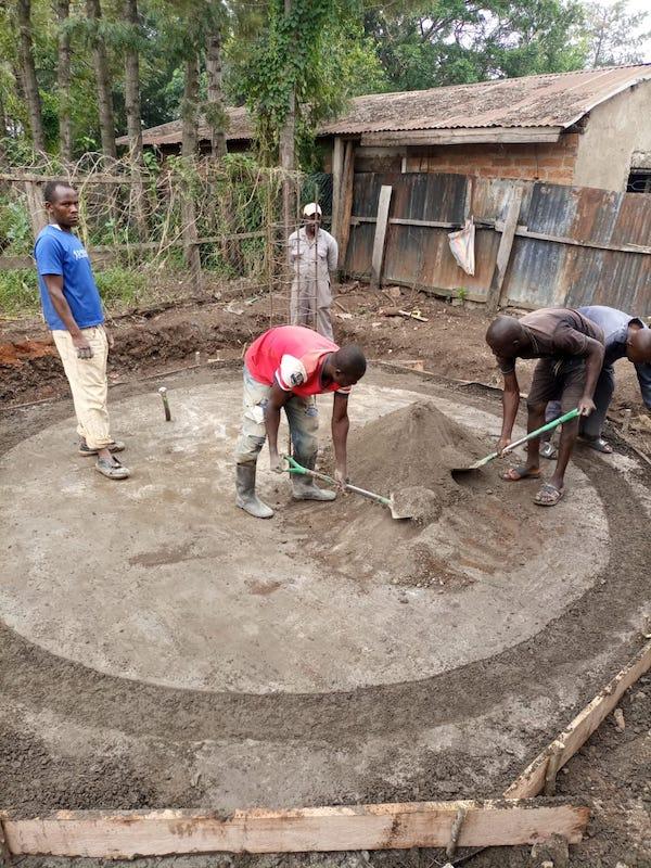 kambiri rainwater catchment tank slab