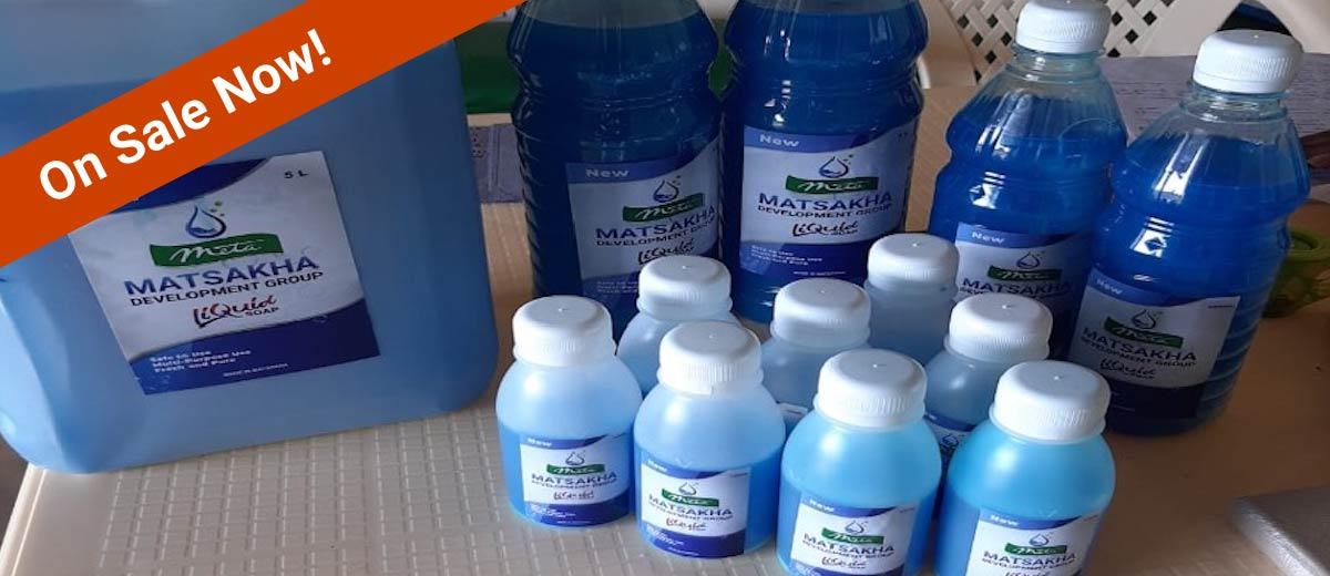 matsakha finished soap bottles