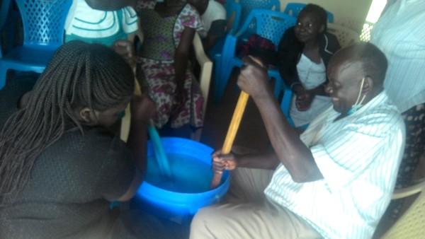 matsakha soap making stirring