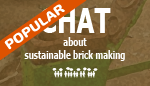 Chat about sustainable brick making