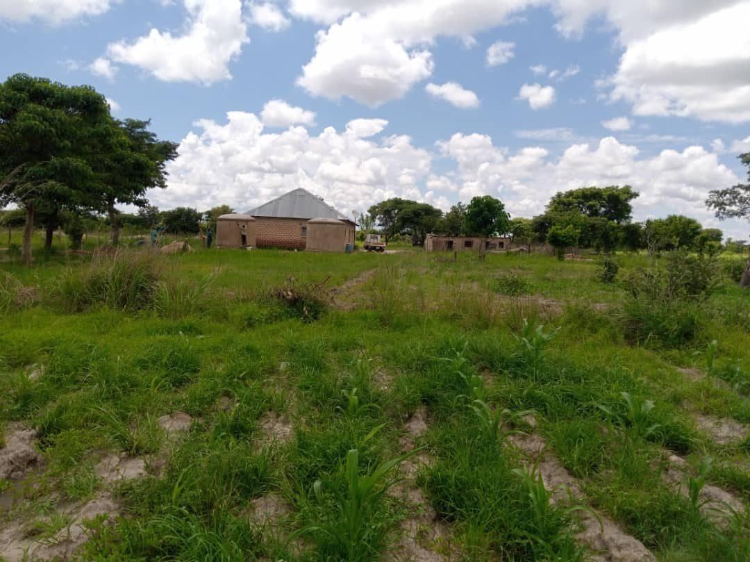 Kabwe rainwater catchment tank field