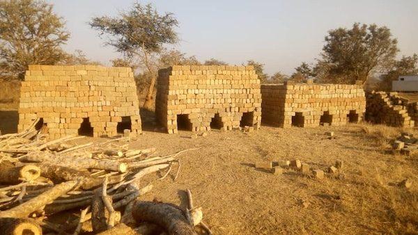 Malimba Zambia clay-fired brick kiln